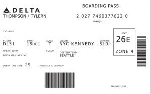 Boarding Card - Original