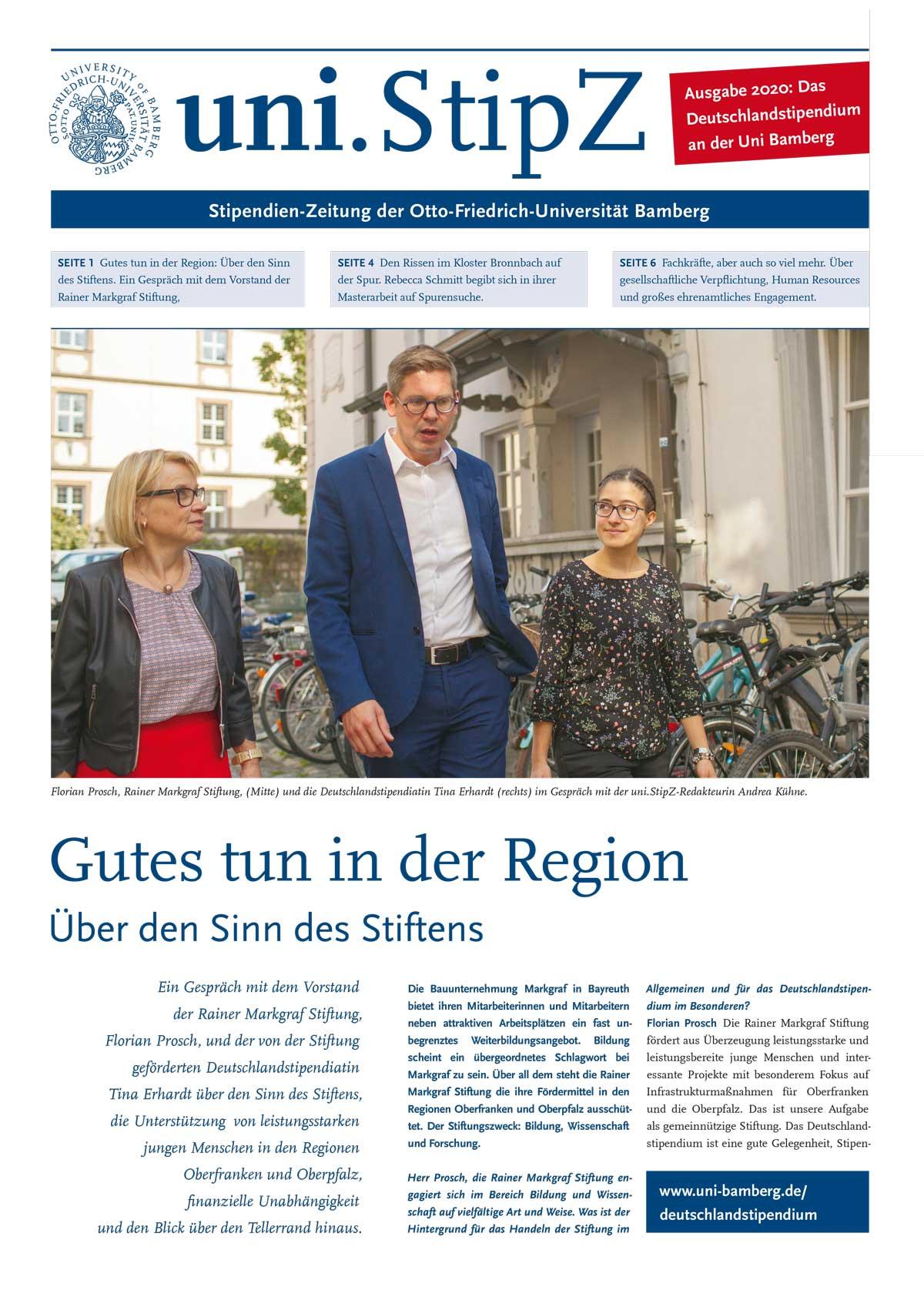 uni.StipZ – Stipendienzeitung der Uni Bamberg