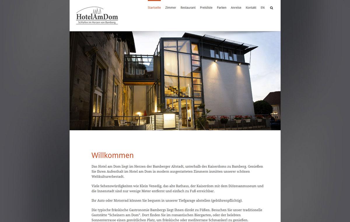 Sch ne homepage f r ein sch nes hotel kobold layout for Bamberg design hotel